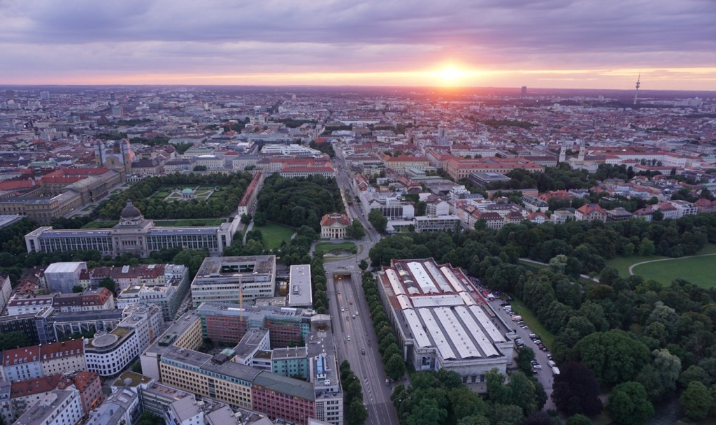 Sonnenuntergang München Generalkonsulat