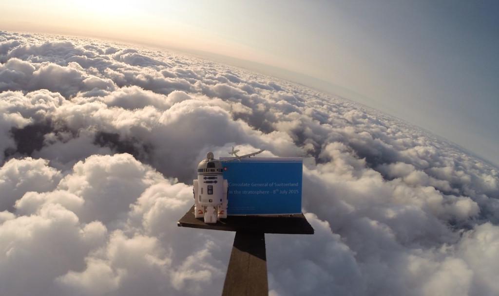 Über den Wolken Wetterballon