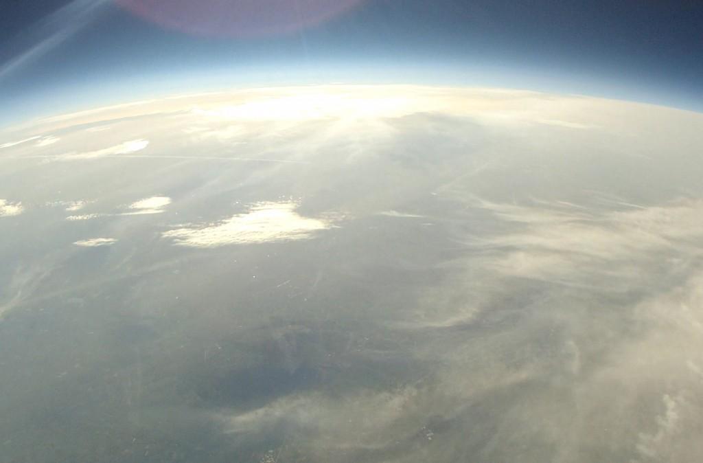 Bedeckte Sicht auf die Erde