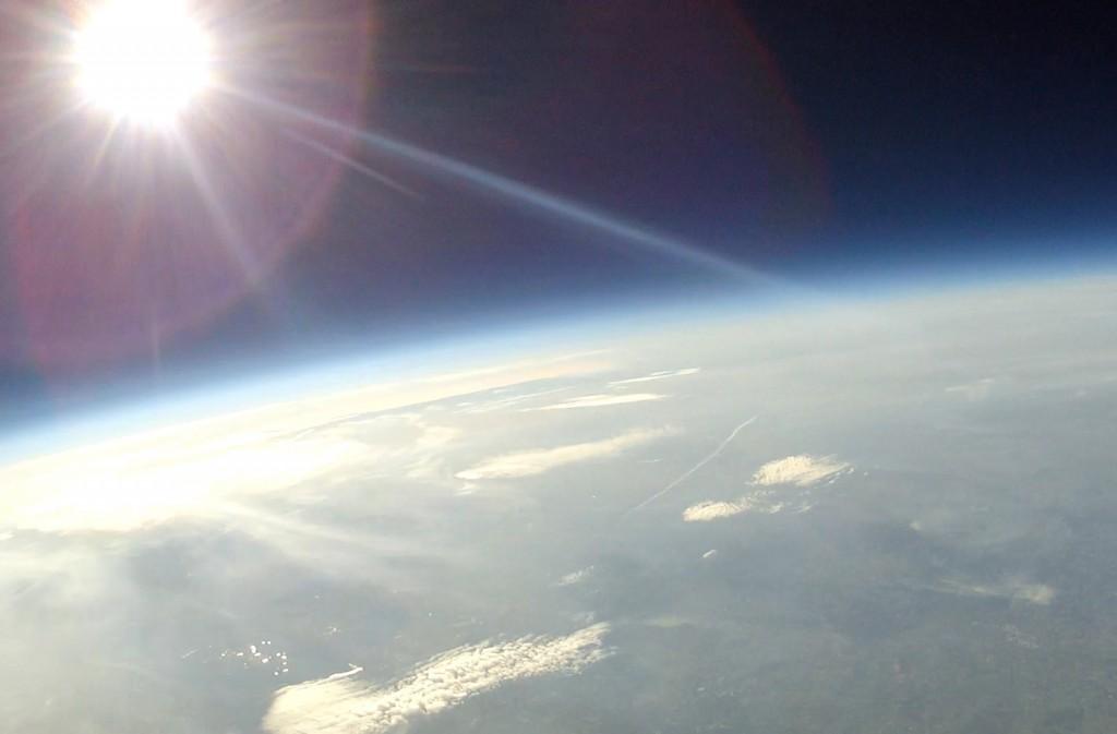 Sonne in der Stratosphäre