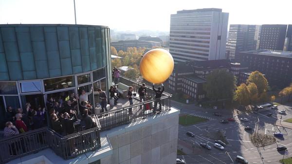 Wetterballonstart Alstertower Hamburg