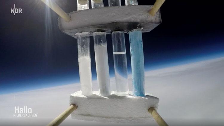 NDR Wetterballonstart Stratosphäre